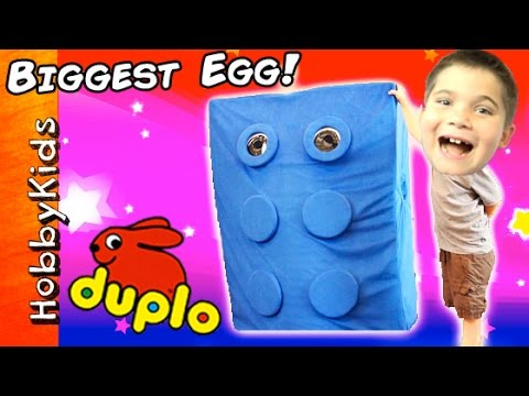 Giant DUPLO Surprise Egg and Scavenger Search