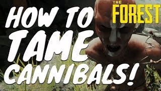 HOW TO MAKE CANNIBALS PASSIVE!- NO CHEATS, NO RED PAINT, IN NORMAL MODE! (The Forest Tutorial)