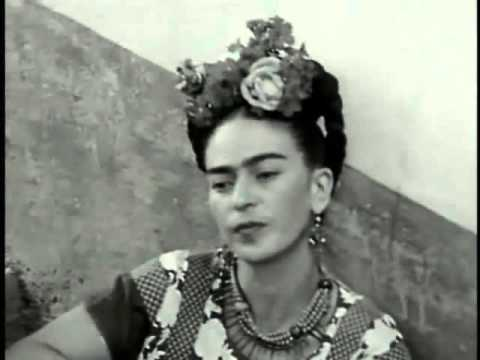 B&W home movie clips of Frida Kahlo