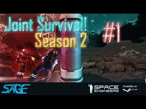 Space Engineers, Joint Survival, S2 #1 The Search For Tazoo