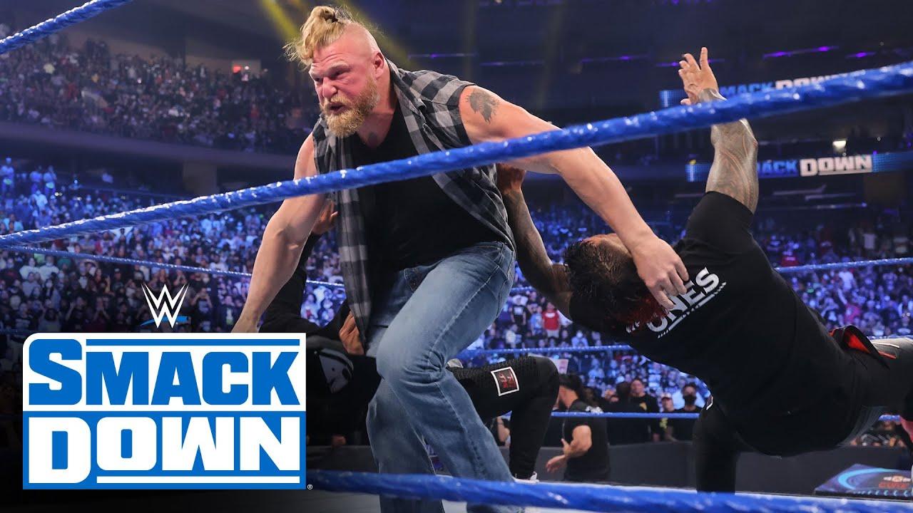Brock Lesnar returns to SmackDown to challenge Roman Reigns SmackDown Sept 10 2021