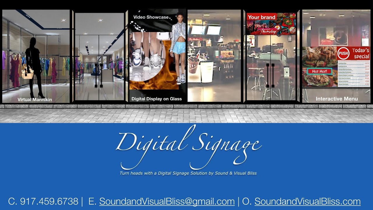 Turning heads with our Digital Signage Solutions for Store Fronts, In Store Ads, Restaurants and Retail