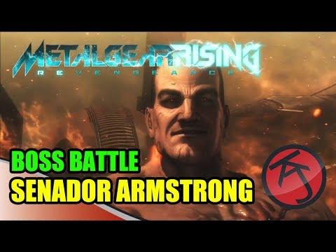 Metal Gear Rising - BOSS BATTLE: RAIDEN VS ARMSTRONG