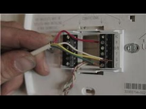 Central Air Conditioning Information   How to Wire a Digital     Central Air Conditioning Information   How to Wire a Digital Thermostat    YouTube