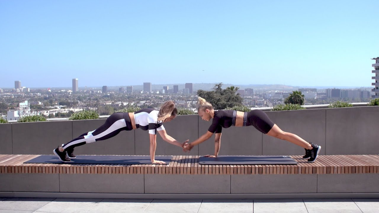 Workout With Tammy Hembrow And Emily Skye | GOOD AMERICAN