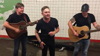 Justin Moore - You Look Like I Need A Drink (Pop Up Show in NYC Subway) thumbnail