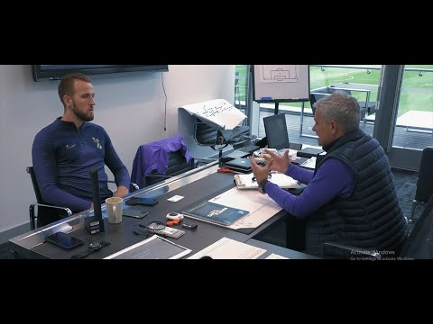 Kane talking with Mourinho about his desire to become a superstar in football and his ambitions