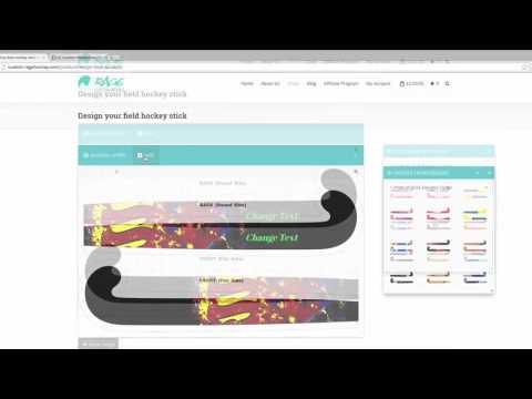 Design & Order A Custom Field Hockey Stick - Tutorial