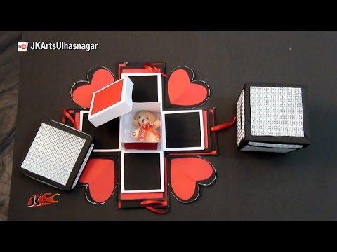 DIY Exploding box / Explosion gift Box / Cajita scrapbook | JK Arts 1007