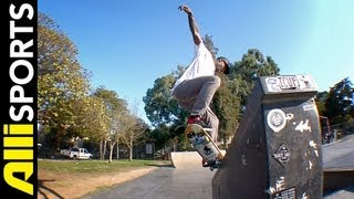 How To Frontside Crooked Grind, Terry Kennedy, Alli Sports Skateboard Step By Step Trick Tips