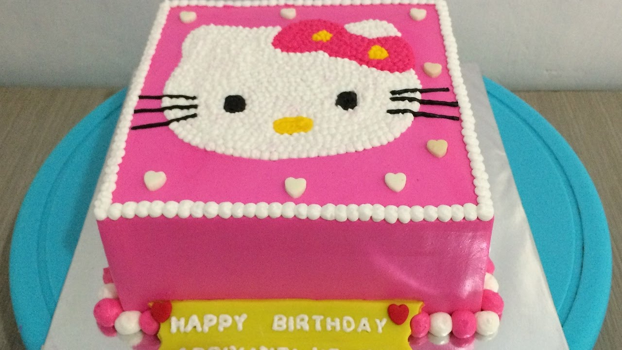 Decor Cake Hello Kitty : Hello Kitty Cake Decorating Simple - YouTube