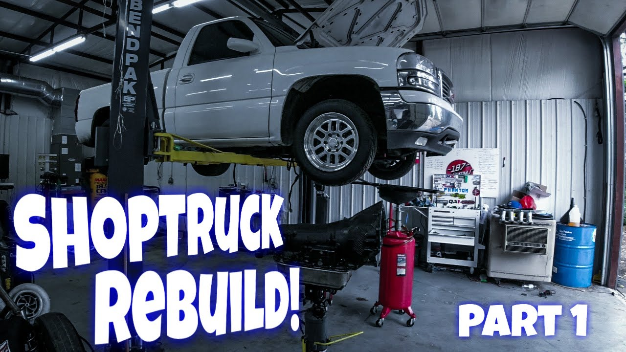 Phantom's ShopTruck Rebuild! Part 1. The Story and Removing Transmission for upgrades!