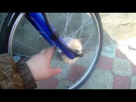 Электровелосипед из гироскутера часть 1