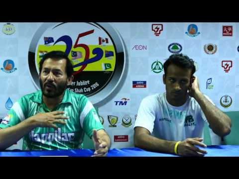 Pakistan Press conference post game against Australia.Sultan Azlan Shah Cup Ipoh 2016.