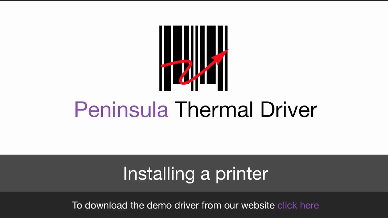 Thermal Driver For Mac OS X: Installing a printer