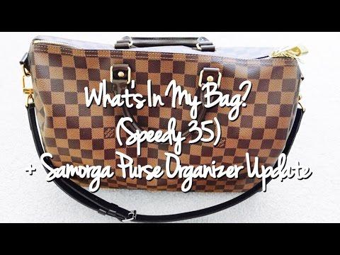 What's In My Bag? (Speedy 35) + Samorga Purse Organizer Update