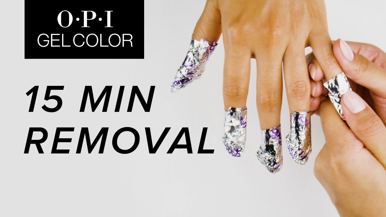 Opi Gelcolor Tutorial 15 Minute Removal