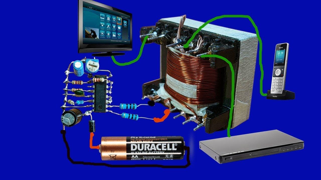 testing inverter 12v to 220v circuit diagram feedback by pulse transformer [ 1280 x 720 Pixel ]