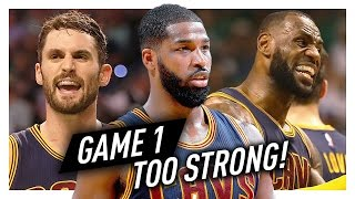 LeBron James, Kevin Love & Tristan Thompson Game 1 Highlights vs Celtics 2017 Playoffs ECF - 90 PTS!