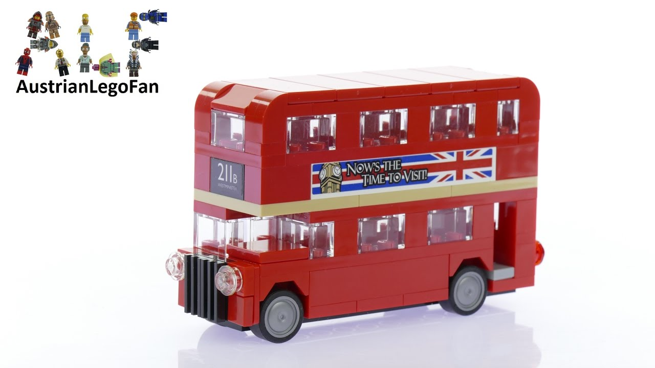 lego creator 40220 london bus lego speed build review youtube. Black Bedroom Furniture Sets. Home Design Ideas