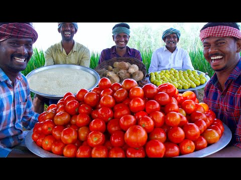 VARIETY RICE | Three Types of Variety Rices Cooking In Village | Tomato Rice | Lemon & Coconut Rice