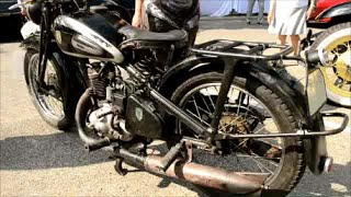 RARE 1935 DKW AUTO UNION MOTORCYCLE WITH START UP