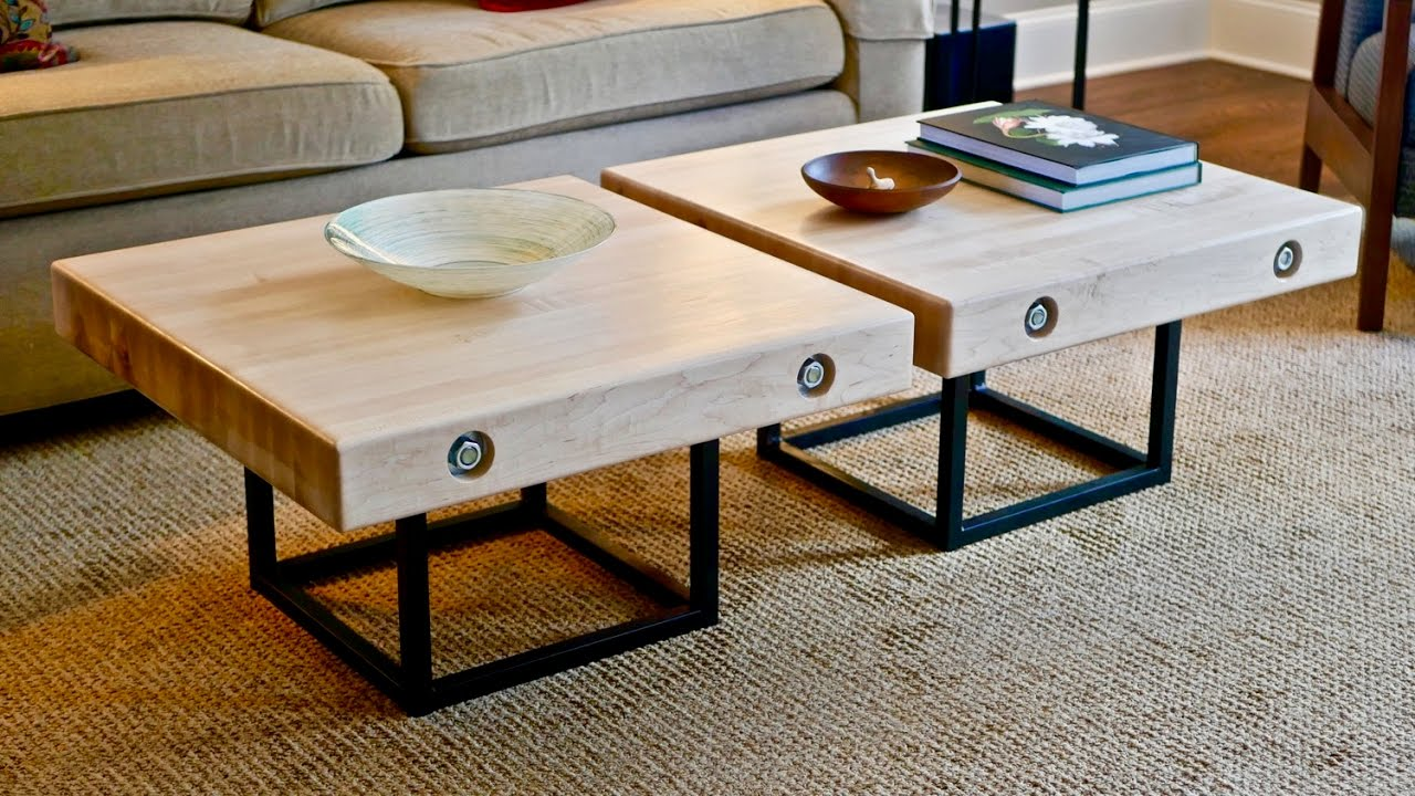 Modern Maple And Steel Coffee Table Part 1 How To Build Woodworking