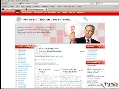 'Smart Head' Free Joomla 1.5 Template (Video Tutorial)