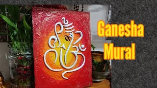 Ganesha Mural Painting l  ganesha mural l 3D wall mural l Ceramic art l #Craftarena 35