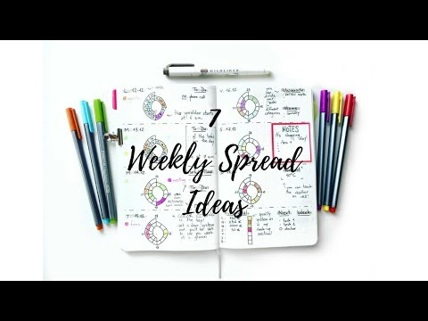 7 Weekly-Spread Layouts | The Boosted Journal