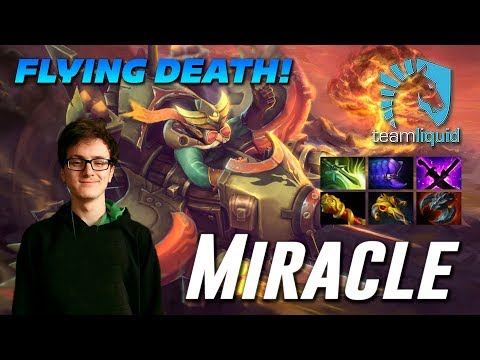 Miracle Gyrocopter FLYING DEATH! Dota 2