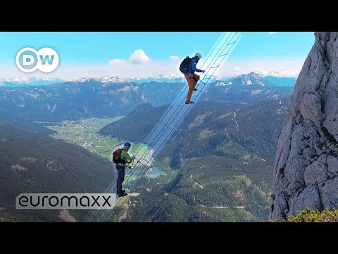 Climbing 700 M Above The Abyss: Stairway To Heaven In Austria - This Ladder Is NOT For Beginners!
