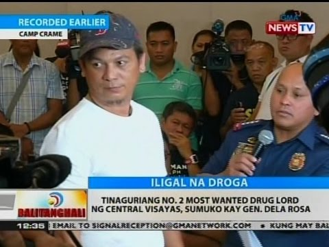 BT: Tinaguriang no. 2 most wanted drug lord ng Central Visayas, sumuko kay Gen. Dela Rosa
