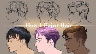 [MediBang] How I draw male hairs - TUTORIAL