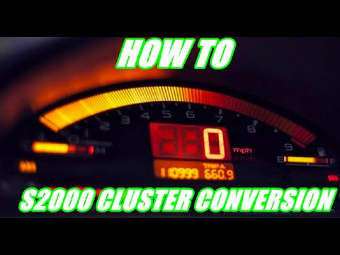 How to do an s2000 cluster conversion | Themidnightgarage #118