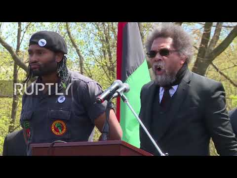 USA: New Black Panthers, Cornell West protest WH