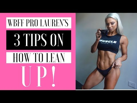 WBFF PRO Lauren Simpson - POSING practice, Tips on How to LEAN UP! + GLUTES & HAMSTRINGS Workout!