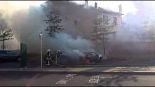 Voiture incendiée vichy 21 juin 2011 parking de la gare