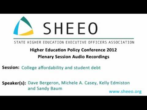 HEPC 2012 - College affordability and student debt