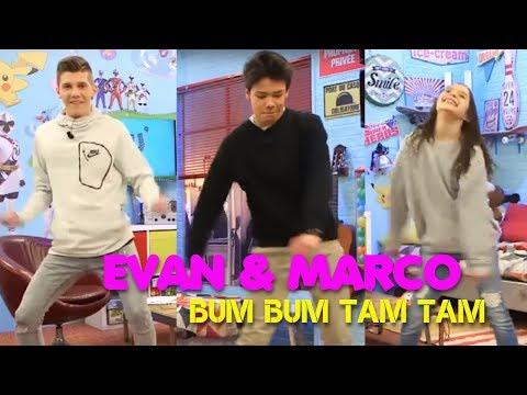 EVAN et MARCO APPRENNENT BUM BUM TAM TAM avec ALBANE- CA PART EN VRILLE