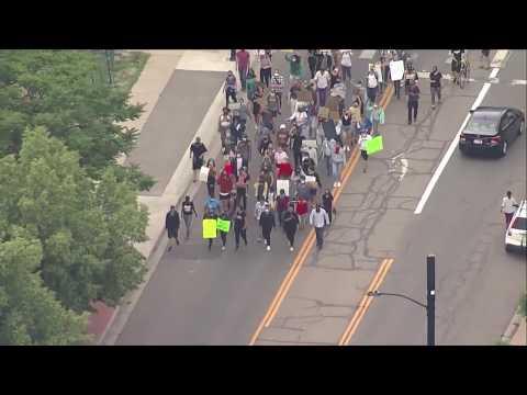 Protesters gather in Denver