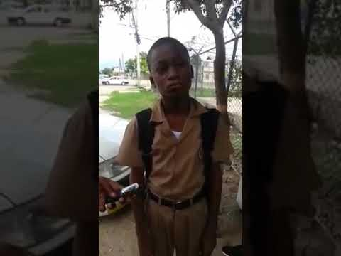 Waterford High School Student Interrogated by Society Warriors/Taxi Man In Portmore Feb 2019