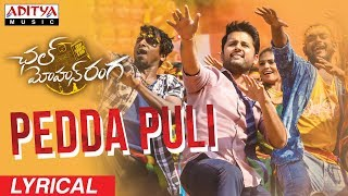 Pedda Puli Lyrical || Chal Mohan Ranga Movie Songs || Nithiin,  Megha Akash || Thaman S thumbnail