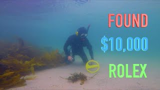 I Found $10,000 ROLEX & RINGS  Underwater Metal Detecting (WORLDS MOST POPULAR BEACH)