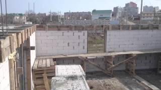 Монолитный армопояс и Колонны при строительстве жилого дома, кладка газобетона г.Черноморск
