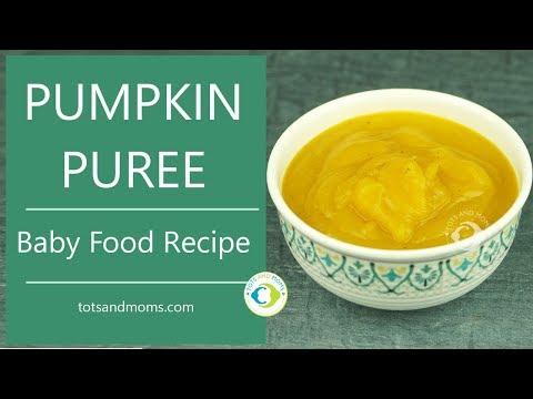 Pumpkin Puree For Babies | 6 Months Baby Food Recipe