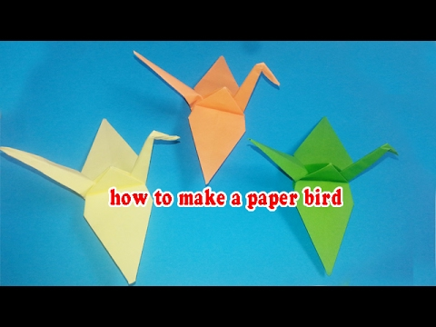 How to make a origami bird   YouTube