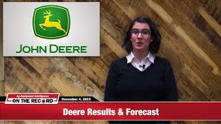 On The Record: Deere Expects 2016 Sales Down 25%