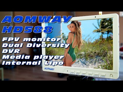 """DutchRC - Aomway 10"""" FPV monitor with Dual Diversity and DVR (HD588) - Review!"""