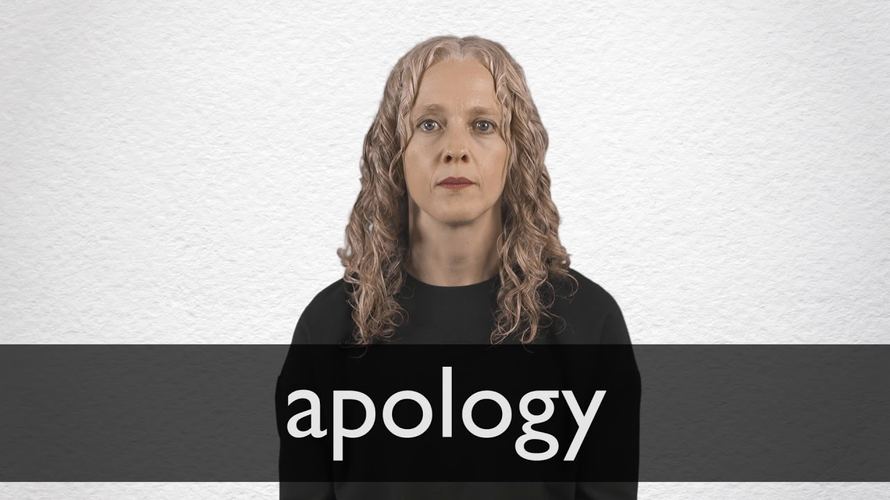 How to pronounce APOLOGY in British English